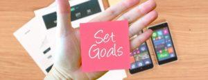 set yourself goals